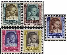 Luxemburg 1930 Child Welfare set sg 290-4 handstamped