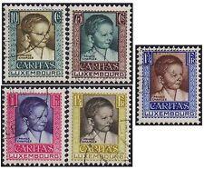 Luxemburgo 1930 conjunto de bienestar infantil SG 290-4 handstamped