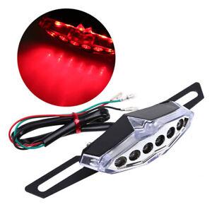 Motorcycle Rear LED Taillight Red Brake Lamp 12V Universal Fit Harley Honda