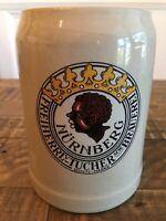 FreiherrLv-Tucher-Brauerei Nurnberg Ceramic Beer Stein Schutz-Marke West Germany