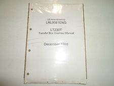 1998 Land Rover LRL0081ENG LT230T Transfer Box Overhaul Manual NEW FACTORY OEM
