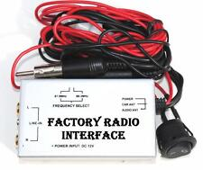 Factory Stereo Radio RCA AUX Audio Input Adapter Wired FM Modulator Universal