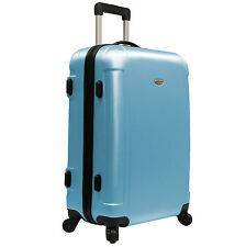 "Traveler's Choice Blue Freedom 25"" Lightweight Spinner/Rolling Luggage Suitcase"
