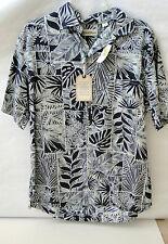 Caribbean 100% Cotton Mens Large Shirt, Short Sleeve, NWT, 65.00 retail,