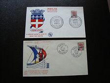 FRANCE - 2 enveloppes 1959 (cy33) french