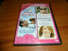 Somethings Gotta Give/As Good As It Gets (Dvd 2004) Moms Day Set Plus Bonus Disk