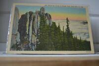 C 1951 Harney Peak Black Hills South Dakota Above The Clouds Postcard