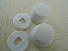 Caps for Toilet Floor Boilts, Easy Snap-On, Plastic Bright White