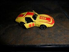 Vintage Loose 1977 Tomica No. F21 Chevrolet Corvette Yellow & Red #8 nr Mint