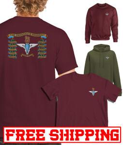 Para Drum printed T-SHIRT HOODIE SWEATSHIRT  Airborne Parachute reg cap badge