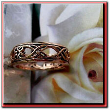 Solid Copper Celtic Ring CTR3454 - 1/4 inch wide. Available in Sizes 5 to 13.