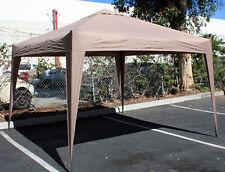 Aluminum Mocha 10' x 10' Foldable & Portable Canopy Easy Set Up Camping Tailgate
