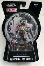 "Mezco Toys Mortal Kombat X Kitana 6"" Action Figure Mournful Version - opened box"