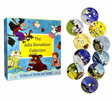 Julia Donaldson Collection Stories and Songs 10 Audio CD Books Set Gruffalo