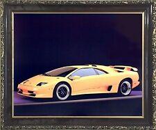 Lamborghini SV Diablo Racing Sports Car Wall Decor Mahogany Black Framed Picture