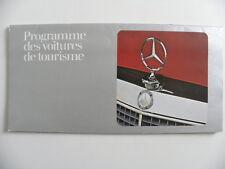 Catalogue / brochure MERCEDES  programme des voitures de tourisme de 01 / 1975