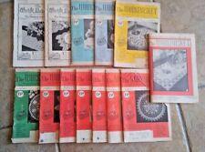 13 Workbasket home needlecraft magazine vintage 1950 - 1963 knit crochet recipes