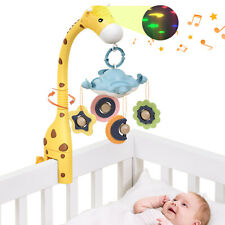 Baby Nursery Musical Crib Mobile Light 360 Rotate Teether Rattle Toy for Newborn