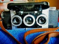 DAVID WHITE CO. REALIST 35mm STEREO CAMERA w F3.5 QUALITY LENS' & LEATHER CASE