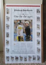 Rare Super Bowl Xl Poster Pittsburgh Steelers One For The Ages Man Cave
