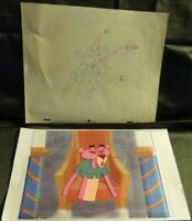 1993 PINK PANTHER ORIGINAL LARGE CEL PAINTED ART ANIMATED SHOW MIDDLE AGES PINK