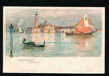 Italy VENEZIA S.Giorgo  artist Manuel Wielandt c1902 u/b PPC