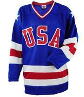 Medium Men's 1980 Olympics Replica K1 USA Hockey Jersey Miracle On Ice