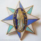 Insigne Religieux DIOCESE CATHOLIQUE NOTRE DAME DE LA GARDE MARSEILLE 1939 émail