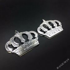2x Metal Crown Luxury VIP Emblem Car Badge Decal Stickers