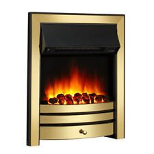 Endeavour Fires Roxby Inset Electric Fire Brass Trim and Fret Remote Control
