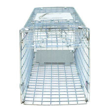 Small Animal Trap 24'' Steel Cage for Live Rodent Control Rat Squirrel Bedroom