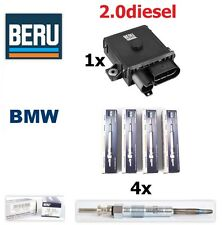 Genuine BERU BMW 4x Glow Plugs & 1x Control Relay unit E46 E90 E60 E70 E83