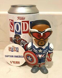 Funko Vinyl Soda Captain America Common 1/10,500 Falcon And The Winter Soldier