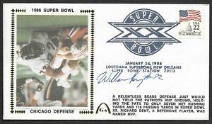 William Refrigerator Perry Signed Error Super Bowl 20 Gateway Stamp Cachet