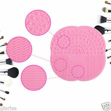 Pink Makeup Brush Cleaner Pad Washing Scrubber Board Cleaning Mat Tool BRAND NEW