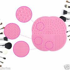 Rosa Makeup Brush Cleaner Pad herramienta de limpieza para tablero Depurador De Lavado Nuevo