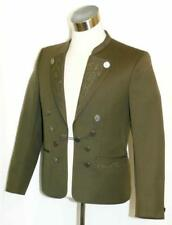 "WOOL Sport JACKET Over Coat BAVARIAN Men German Riding EMBROIDERY GREEN c40"" M"