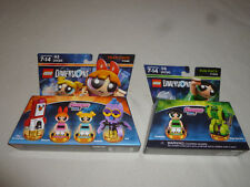 NEW POWERPUFF GIRLS MINI FIGURE SET LEGO FIG LOT DIMENSIONS MINIFIG BUBBLES NIB