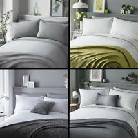 Pom Pom Trim Duvet Quilt Cover Bedding Set Modern Fringe Multi Silver Grey White