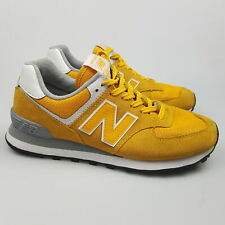 Women's NEW BALANCE '574' Sz 8 US Shoes Yellow VGCon Leather | 3+ Extra 10% Off