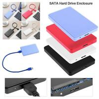 Mini 2.5in USB3.0 SATA Box 3TB HDD Hard Drive SSD External Enclosure Case for PC