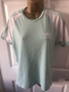 adidas mint green t shirt top size small