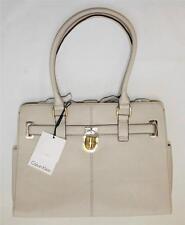 NWT Calvin Klein  H2GAA800 Tote Handbag Modena Leather IVORY Gold
