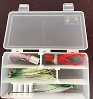Vintage Fly Fishing Flies With Case