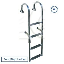 Quality Stainless Steel 4 Step Marine Folding Boarding Ladder - Boat Yacht