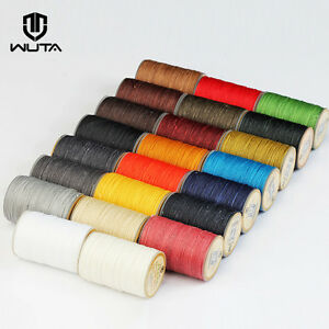 WUTA 0.65mm Round Wax Thread Cord Leather Craft Sewing Hand Stitching Thread 40m