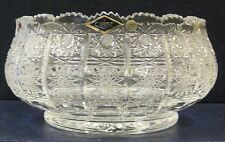"Bohemia Crystal Bowl Center-piece, 10"" Wide, Mde in Czech Republic"