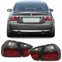 Red smoked finish Black line style tail rear lights for BMW E90 Sedan 05-08
