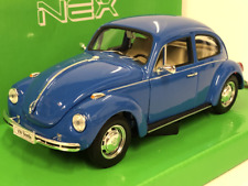 1959 Volkswagen Beetle Blue 1:24 27 Scale Welly 22436B