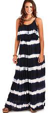 Women's Striped Strappy, Spaghetti Strap Sundress Summer/Beach Dresses